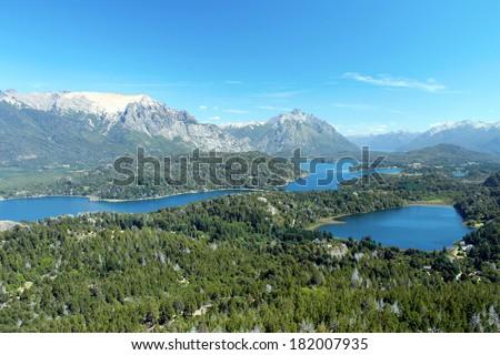 Landscape of Nahuel Huapi Lake in San Carlos de Bariloche, Argentina - stock photo