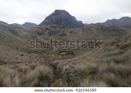 Landscape of National Park Cajas, Ecuador - stock photo