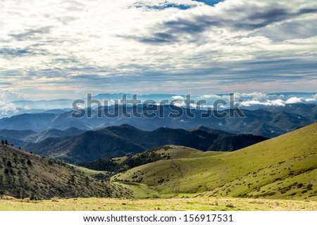 Landscape of Natural Parc of Cadi-Moixero in Spain - stock photo
