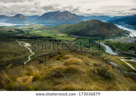 Landscape of New Zealand - stock photo