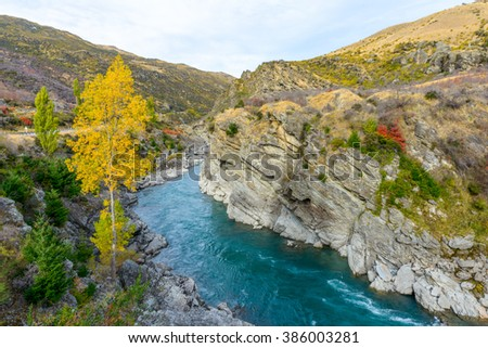 Landscape of New Zealand - stock photo
