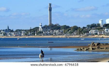 Landscape of Provincetown - stock photo