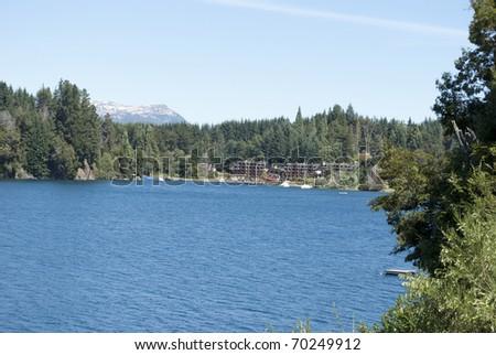 Landscape of San Martin de los Andes, Patagonia Argentina - stock photo