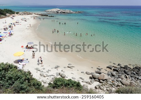 Landscape of sardinia coast Italy - stock photo