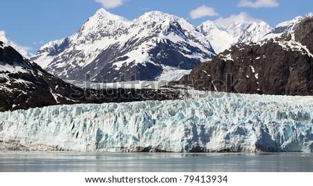 Landscape of Scenery of Glacier Bay in Alaska - stock photo
