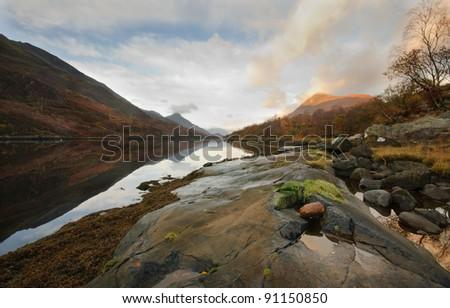 Landscape of Scotland - stock photo