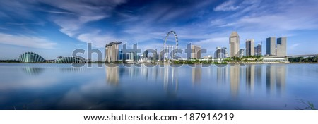 Landscape of Singapore city in day morning time. - stock photo