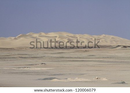 Landscape of Skeleton coast park. Namibia