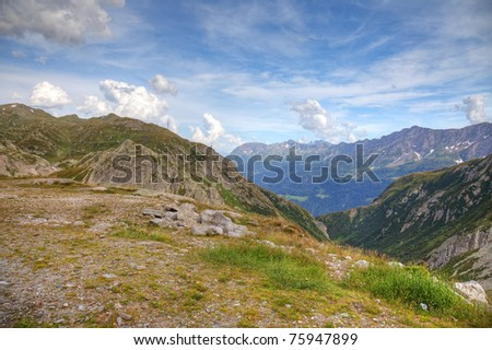 Landscape of swiss Alps, Europe. - stock photo