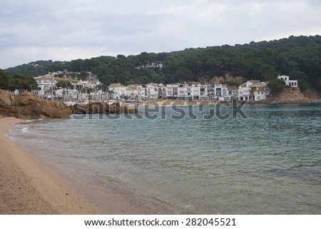 Landscape of Tamariu coast, small village in Costa Brava.