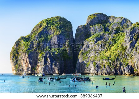 Landscape Thailand Located Maya Bay Ko Stock Photo - Where is thailand located