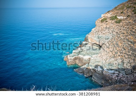 Landscape of the Aegean sea in Sifnos - stock photo