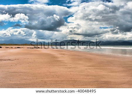 Landscape of the beach at Inch Strand in Ireland
