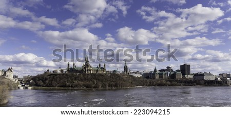 Landscape of the Canadian capital - stock photo