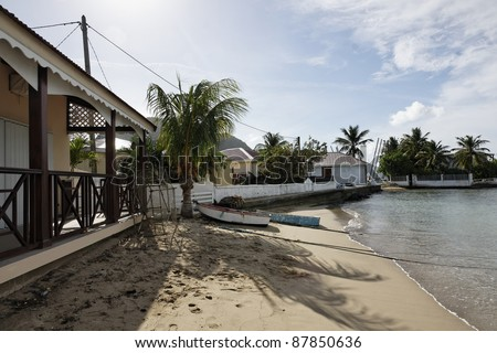 Landscape of the Caribbean, Les Saintes in Guadeloupe