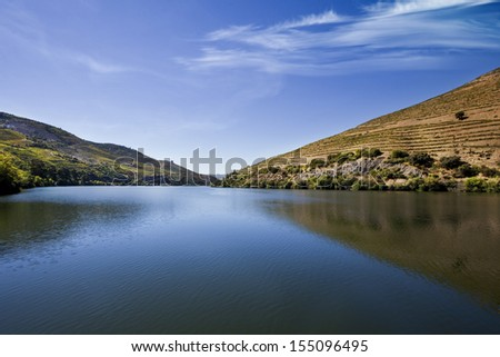 Landscape of the Douro Valley / River - stock photo