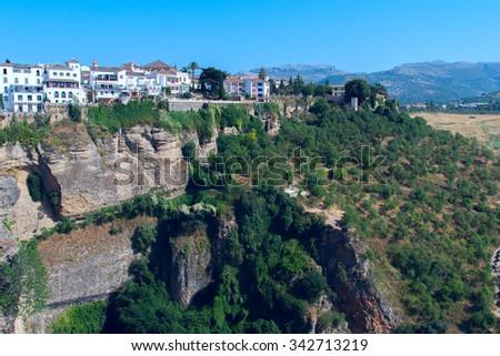 Landscape of the Spanish city of Ronda - stock photo