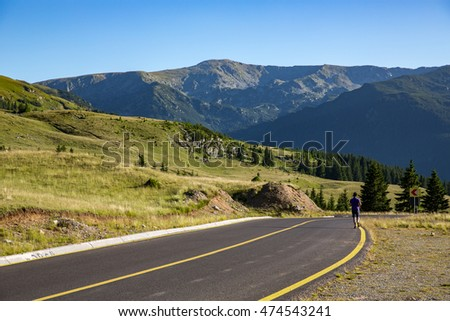 Landscape of Transalpina road in Romania. The Transalpina is one of the highest roads of the Carpathian Mountains.