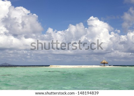 Landscape of tropical beach in Caribbean