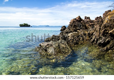 landscape of tropical sea - stock photo