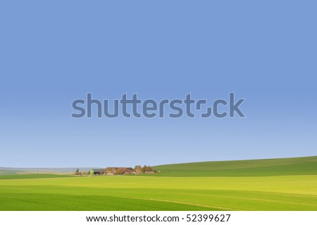 Landscape of View France - stock photo