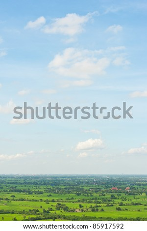 landscape on mountain - stock photo