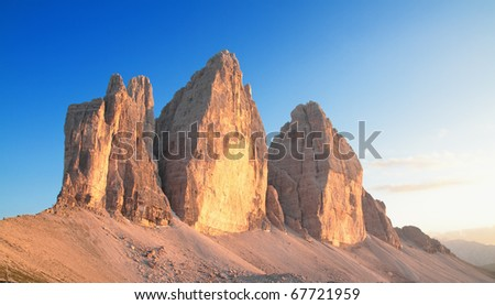landscape on the italians alps