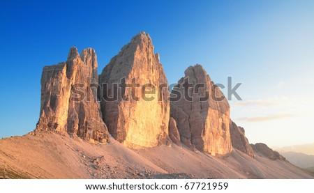 landscape on the italians alps - stock photo