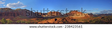 Landscape Panorama from Utah's Arches National Park.