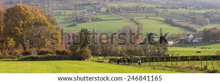 Landscape panorama  of Limburg Southern Holland - stock photo