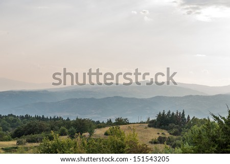 Landscape photo from the residence in sandanski, bulgaria - stock photo