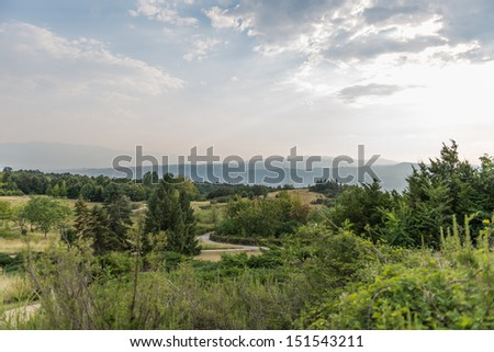 Landscape photo from the residence in sandanski, bulgaria