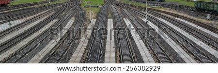 landscape photo of the way forward railway - stock photo