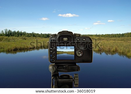 Landscape Photographer - stock photo
