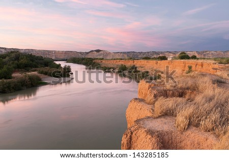 landscape river in Spain