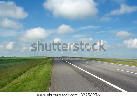 landscape: roadside - stock photo