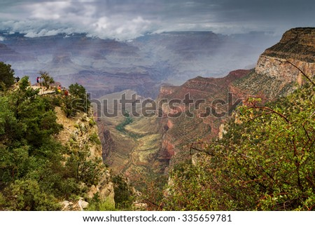 Landscape scene of Grand Canyon National Park - stock photo