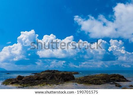 Landscape Shore Sea  - stock photo