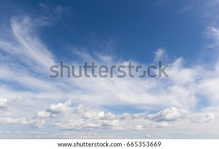 Landscape sky with beautiful clouds