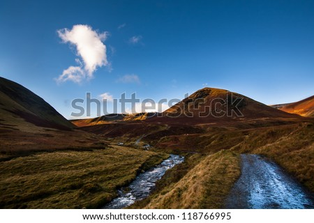 Landscape under the fells in Lake District, Cumbria, North England