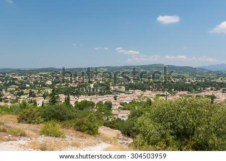 landscape Vaison-La-Romaine in French Drome - stock photo