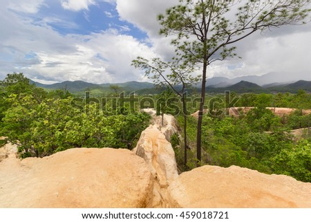 Landscape view from Pai canyon  in Pai district, Mae Hong Son Province, Thailand  in Pai district, Mae Hong Son Province, Thailand