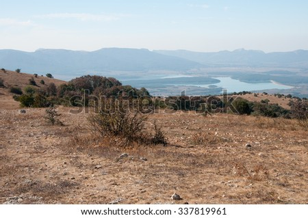Landscape view from the plateau of Bald mountain, south of Crimea