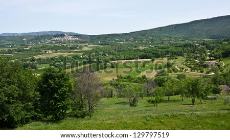 Landscape View of Bonnieux