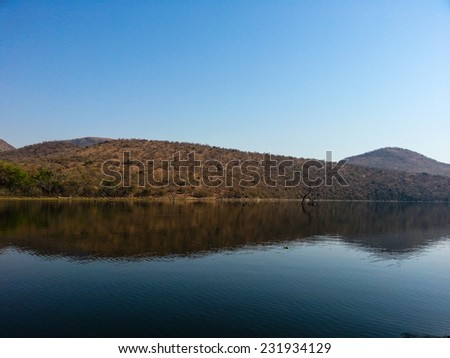 Landscape view of Loskop Nature Reserve,South Africa - stock photo