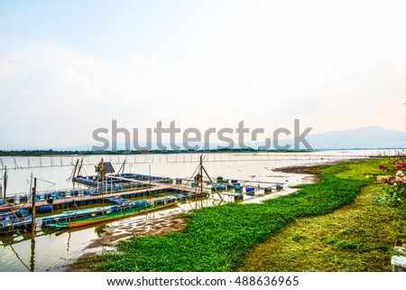Landscape View of Phayao Lake, thailand
