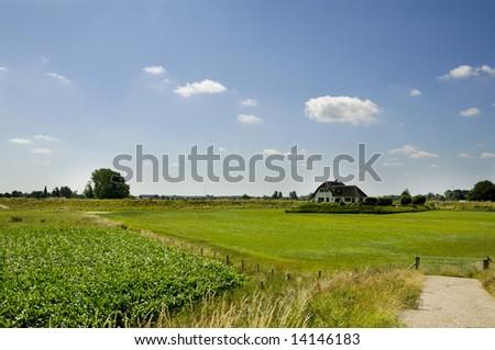 Landscape with farm - stock photo