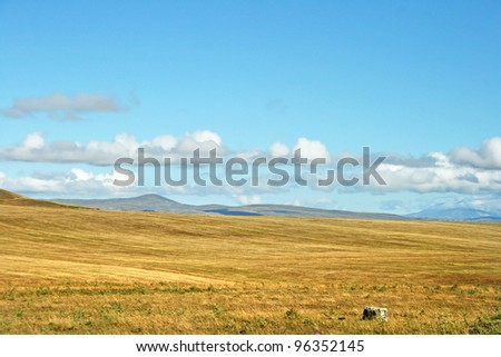Landscape with mountains in Armenia.