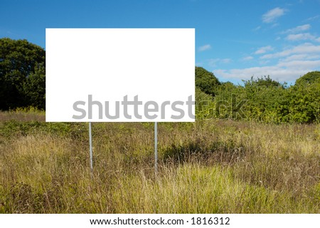 landscape with poster with white bottom so that you can write what wishes