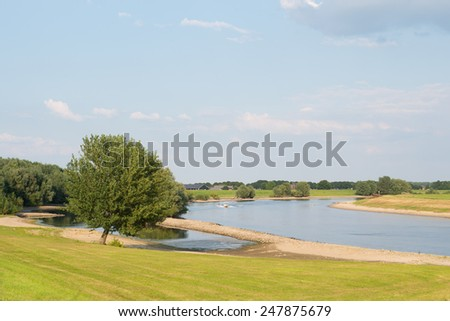 Landscape with river in Holland